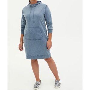 🆕Vintage Indigo Mineral Wash Terry Hoodie Dress